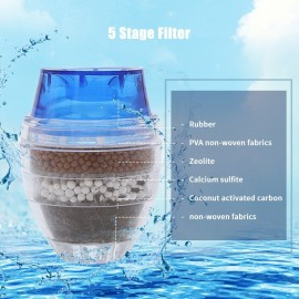 Faucet Water Filter Purifier Kitchen Tap Filtration Activated Carbon Removes Chlorine Fluoride Heavy Metals Hard Water Softener Water Tap Filter