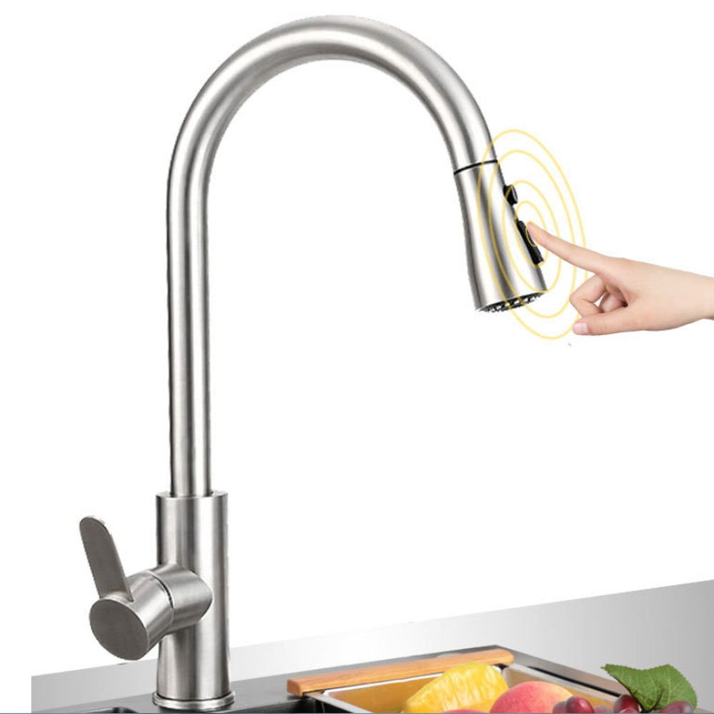 Kitchen Faucet Hot and Cold Single Handle Pull Out Faucet