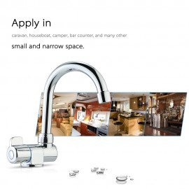 Deck/Wall Mounted Rotating RV Faucet High-end Kitchen Faucet for Camper Recreational Vehicle Motorhome Travel Trailer