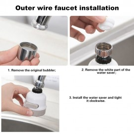 Adjustable 360° Rotatable Water Saving Tap