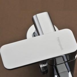 Homgeek Modern High-quality Wall-mounted Brass Bathtub Bath Faucet Polished Chrome Showering Mixer Bathroom