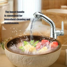 European-style Pull Out Single Connection Bathroom Tap Stud Installation Rotatable Sink Water Faucet