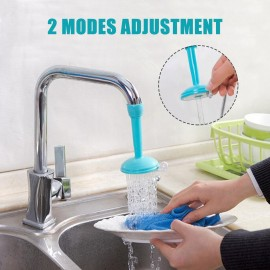 360 Degree Rotating Faucet Spray Head Kitchen Splash Sprinklers Water-Saving Adjustable Faucet Nozzle Water Valve Double Shower Head Water Jet