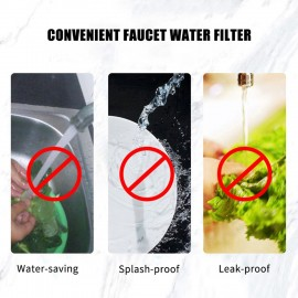 Faucet Water Filter Purifier Magnetic Kitchen Tap Filtration Maifan Stone Removes Chlorine Fluoride Heavy Metals Hard Water Softener Water Tap Filter