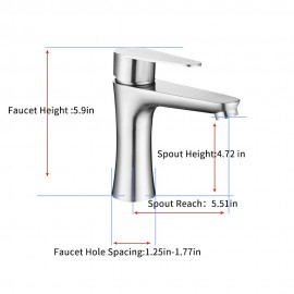Bathroom Faucet Single Handle Kitchen Bar Sink Basin Faucet Finished Stainless Steel Ceramic Valve Hot And Cold Water Mixed Water Tap