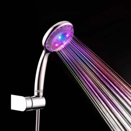 Anself Automatic LED Light Shower Head Handheld Bath Sprinkler for Bathroom Multiple Color 7 Colors Water Glow