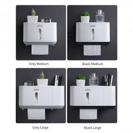 Ecoco Paper Towel Dispenser Wall Mounted Paper Towel Holder Dispenser Bathroom Coreless Toilet Tissue Dispenser Garbage Bags Dispenser Home Paper Extraction Dispenser