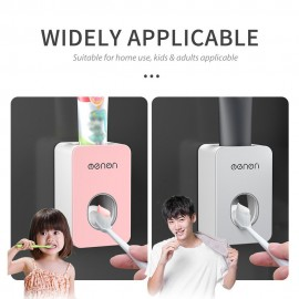 Menen Toothpaste Dispenser Automatic Hands Free Wall Mounted Toothpaste Squeezer for Bathroom Sink