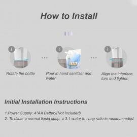 280mL Automatic Foam Soap Dispenser Infrared Hand-free Touchless Soap Dispenser Dish Foam Lotion Gel Auto Hand Soap Dispenser for Bathroom Kitchen